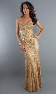 Elegant Strapless Formal Gown