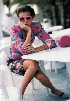 Arthur Elgort for American Vogue, March 1989. Suit by Emanuel Ungaro.