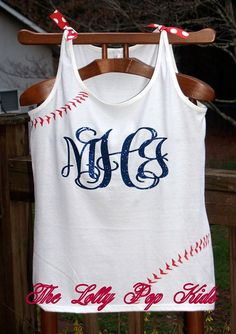 Baseball Monogrammed Tank Top