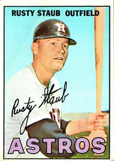 1967 Topps #73 Rusty Staub Front Baseball Park, Baseball Players, Football, Playing For Keeps, Kids Playing, Rusty Staub, American League, Sports Figures, Trading Card Database