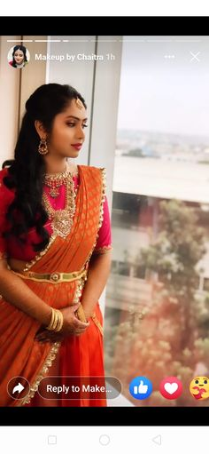 Lehenga Designs Latest, Half Saree Designs, Indian Wedding Outfits, Indian Outfits, Jewellery Designs, Necklace Designs, Bridal Jewellery, Gold Jewellery, Black Blouse Designs