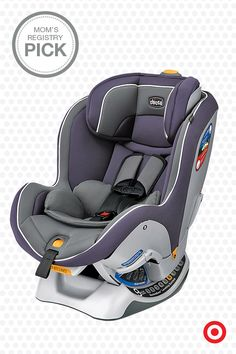 Enjoy road trips for years with this Mom's Registry Pick, the Chicco NextFit Convertible car seat. LATCH equipped with a 5-point harness, it easily converts from rear facing to forward facing. Plus, it adjusts to fit your growing child—from infant through pre-school. Oh, the things you'll see!