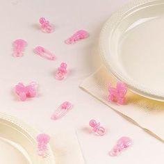 Lyserødt bordpynt til din barnedåb Find alt til din barnedåb og babyshower her.