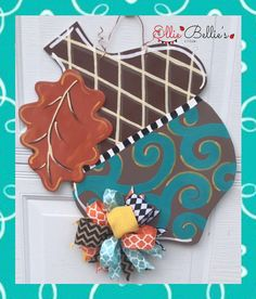 Fall Acorn Door Hanger Sign