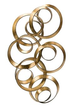 """Overlapping circles finished in gold leaf create dimension and add interest to walls. Product Description • Product Dimensions: 38.5"""" H x 22"""" W x 4.5"""" • Product Re-Shipper Dimensions: 38.75"""" L x 4.75"""""""