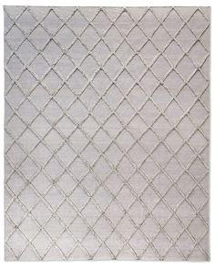 Diamante Flatweave Linen Rug - Grey/Grey