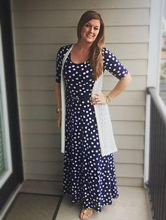 LuLaRoe Ana Maxi Dress polka dots.