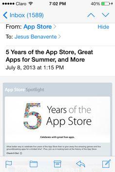 #5YearsOfTheAppStore #AppleRocks