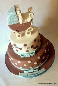 Shabby chic cake for baptism - by Amerilde @ CakesDecor.com - cake decorating website
