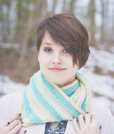 Knitting Patterns Galore - Drop Stitch Cowl