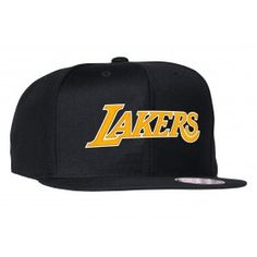 a50ecb2ad Mitchell   Ness Wool Solid Snapback Los Angeles Lakers
