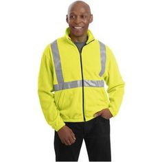 #CLOSEOUT CornerStone - Value Fleece Full-Zip Jacket with Reflective Taping