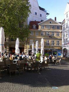 Kohlmarkt Braunschweig - fun for wine, music and new German friends! Enjoyed July 2017