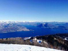 La vista di oggi dal #Mottarone ( #Stresa #Verbania #Italy ) #snow