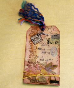 My take on the Tim Holtz tag challenge for March - not my best work.... #12tagsof2014