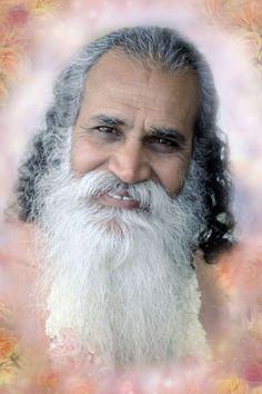 Artwork by Sister Gayatri surrounds a portrait of Swami Satchidananda.