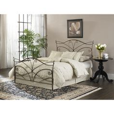 might be my next bed frame...@Overstock - Add a touch of elegance to your bedroom with this bed and frame from Fashion Bed Group. Curved loops, bends and spiral rods finish the sleek, pewter finished bed frame.   http://www.overstock.com/Home-Garden/Papillon-King-Size-Bed-with-Frame/6730478/product.html?CID=214117 $381.99