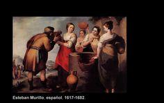 """Bartolomé Esteban Murillo (1617-1682)  Nació en Sevilla, España. Pintor Barroco.  """"Rebeca y Eliezer"""""""