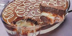 Ingredientes Creme escuro 150g de chocolate ao leite picado 100g de chocolate meio amargo picado 1 xícara (chá) de creme de avelã tipo Nutella 1 lata de creme de leite Creme branco 1 lata de leite condensado 1 colher (chá) de manteiga com sal ½ xícara (chá) de castanha de caju torrada triturada 1 lata …