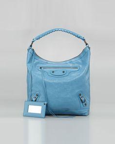 Classic Day Bag, Blue Indigo by Balenciaga