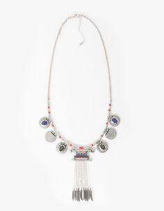 Boho necklace Stradivarius