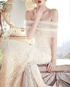 The new YolanCris 'Mademoiselle Vintage' bridal collection features some achingly romantic and feminine gowns oozing exquisite elegance and sophistication. Bridal Collection, Dress Collection, Beautiful Gowns, Beautiful Outfits, Gorgeous Dress, Bridal Gowns, Wedding Gowns, Lace Wedding, Mermaid Wedding