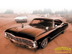 "1967 Chevrolet Impala* I am thinking this is the car my cousin Diana had.. only hers was RED and named ""Leon"""