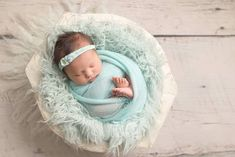 Baby Sprout Mint Green Newborn Photography Studio Set