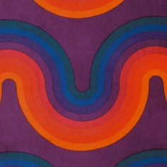 psychedelic-sixties: Designed by Verner Panton. Retro Kunst, Retro Art, Retro Pattern, Pattern Design, Textiles, Hippie Style, Colani, Illustrations, Vintage Patterns