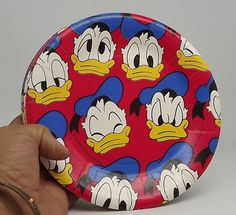 "DONALDS DUCK PAPER PLATES (8) ~ Vintage Birthday Party Supplies 7 2/8""  #Party #BirthdayChild"