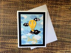 Baby Shower Handmade Shaker Card Baby Boy by BeautifullyMadeCards