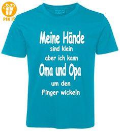 Kinder Sprüche T-Shirt Oma und Opa Türkis Größe 98 - T-Shirts mit Spruch | Lustige und coole T-Shirts | Funny T-Shirts (*Partner-Link)
