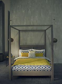 parure de lit grise et blanche linge de lit pinterest. Black Bedroom Furniture Sets. Home Design Ideas