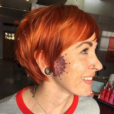 Short Layered Red Hairstyle