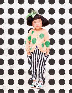 Franky Grow printemps-été 2013 | MilK - Le magazine de mode enfant coup de coeur ! [Mondial Tissus mood]  Tellement mignonne qu'on l'encadrerait bien.