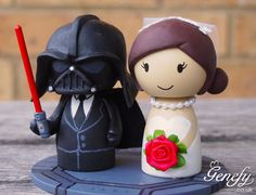 Cute DARTH VADER Star Wars and Bride wedding by GenefyPlayground, £108.00 baahahh I looove it!