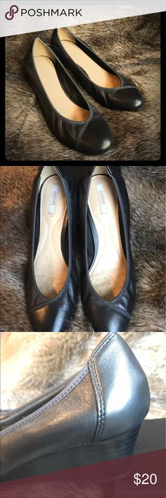 Geox black shoes Good condition. Shoes Wedges
