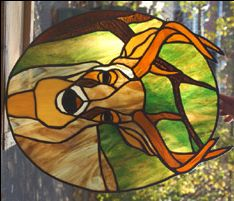 stained glass deer | Somers Tiffany Stained Glass Classes on Long Island