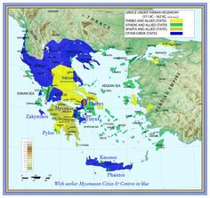 Map of Greece under Theban Hegemony (Illustration) - Ancient History Encyclopedia Africa Nature, Africa Art, Mycenaean, Minoan, Greek History, Ancient History, Macedonia, Thasos, Ancient Greece