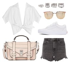 """Untitled #21462"" by florencia95 ❤ liked on Polyvore featuring Vans, Proenza Schouler, Michael Kors, Alexander Wang, Quay and Forever 21"