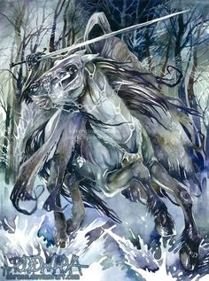 4'《《\· · · 《《 · · ]| Repinned from ^^^ · · ·  ¡' + -¡Ringwraith // *Fantastic watercolor! | .·`.·`
