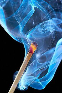 Flaming match.