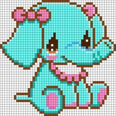 Here is a great collection of perler bead, hama bead or fuse bead patterns for you to use with your own peg boards. You'll find all kinds of birds, insects, animals, flowers and transport perler bead patterns in this list. Kandi Patterns, Pearler Bead Patterns, Perler Patterns, Beading Patterns, Embroidery Patterns, Art Patterns, Painting Patterns, Loom Beading, Crochet Patterns