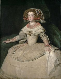 Diego Velázquez (Spanish [Baroque, Portrait] Portrait of the Infanta Maria Theresa of Spain, Kunsthistorisches Museum, Vienna. Spanish Painters, Spanish Artists, Rembrandt, European History, Art History, Maria Theresa Of Spain, Portrait Sculpture, Renaissance, Kunsthistorisches Museum Wien