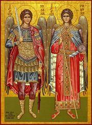 The Archangels Michael & Gabriel.