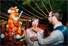 Stephanie Allin wedding dress for Toulouse wedding - French Wedding Style French Wedding Cakes, French Wedding Style, Croquembouche, Sweet Dress, Wedding Styles, Real Weddings, Poses, Couple Photos, Wedding Dresses