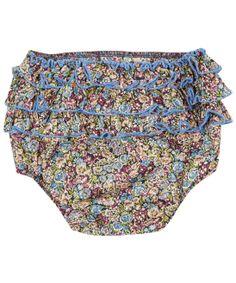 Liberty London Childrenswear Age 0M to 12M Chive Print Ruffle Bloomers