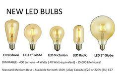 NIEUWE LED lampen Edison stijl Dimbare van HangoutLighting op Etsy