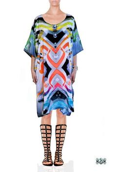 Luxury Digital Print Ladies Caftan