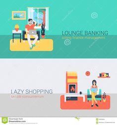 flat design people home - Поиск в Google